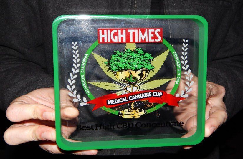 Photo Release — Medical Marijuana Inc.'s HempMedsPX Represents High Times Medical Cannabis Cup Award Winner for Highest Hemp Cannabidiol (CBD) Concentrate